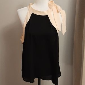 Chiffon Top with Side Neck Ribbon